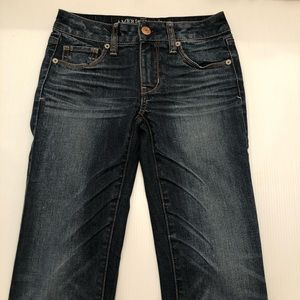 Junior's American Eagle Skinny Denim Jeans Size 0